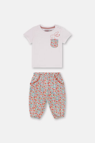 Baby Short Sleeve T-shirt and Trouser Set