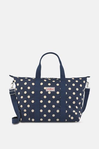 Button Spot Foldaway Overnight Bag