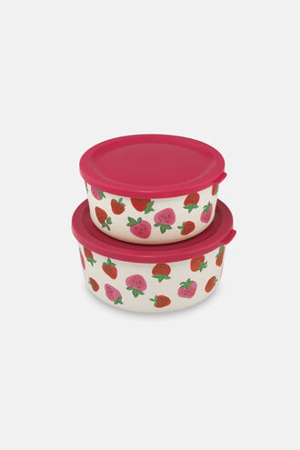 Set of Two Round Lunch Boxes