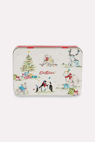 Festive Party Animals Hand and Lip Tin