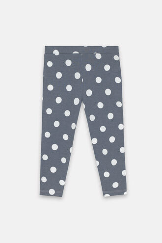 Button Spot Twill Baby Leggings