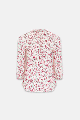 Rosey British Birds Yoke Detail Blouse