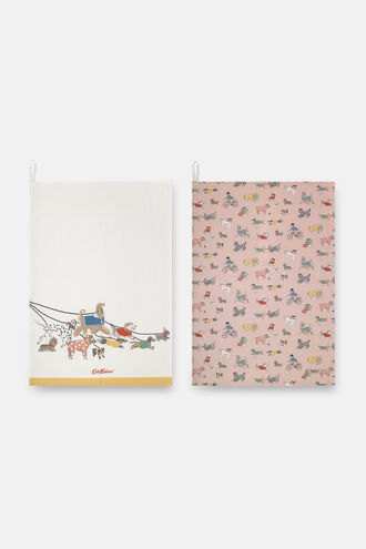 Small Park Dogs Set of 2 Tea Towels