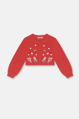 Kids Embroidered Cardigan