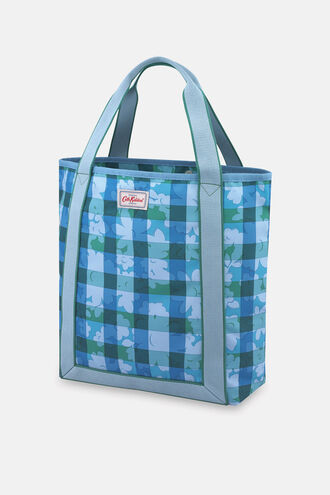 Flower Power Gingham Recycled Webbing Tote