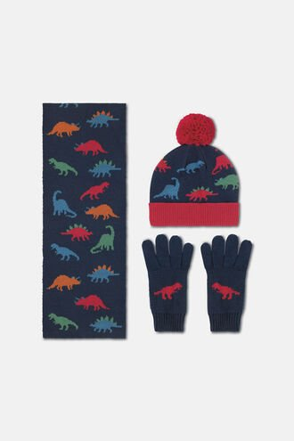 Kids Knitted Hat, Scarf & Mittens Set