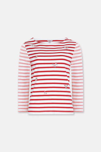 Embroidered Breton Top