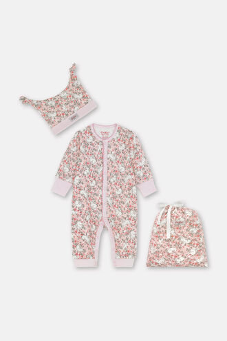 Baby Footless Sleepsuit Hat and Bag