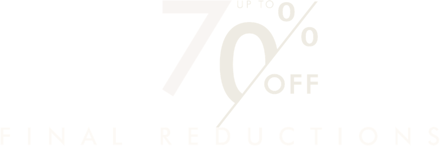 Mid season SALE. Up to 70% off. FINAL REDUCTIONS