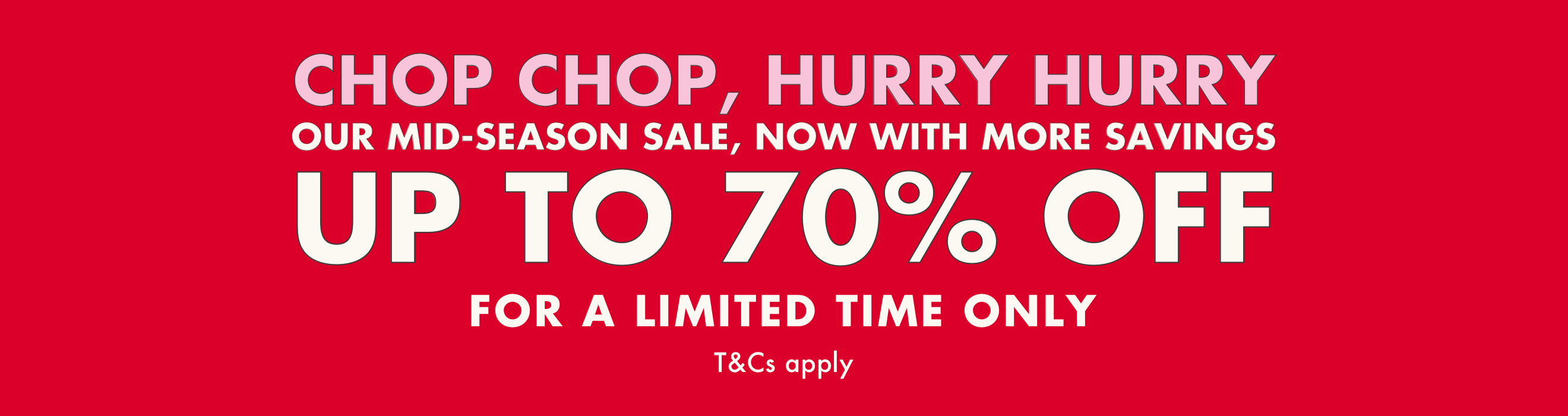 Extra 10% off. Mid Season Sale - Ends Midnight - Cath Kidston
