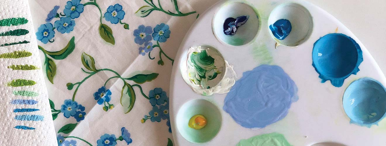 How to paint forget me not print - Cath Kidston
