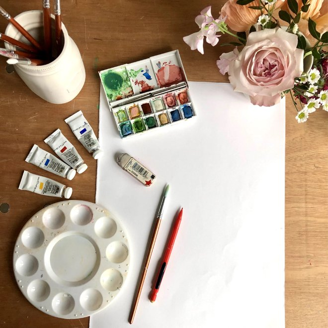 What You need to Paint bluebells Print - Cath Kidston