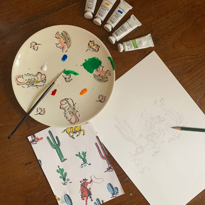 What You need to Paint cowboy - Cath Kidston