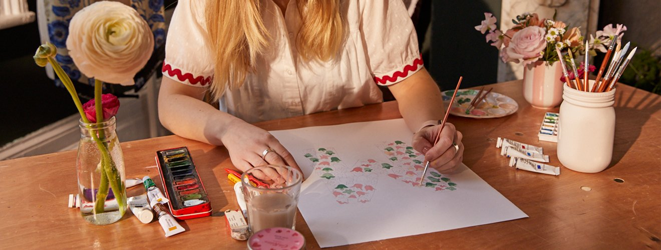 How to paint bluebells Print - Cath Kidston