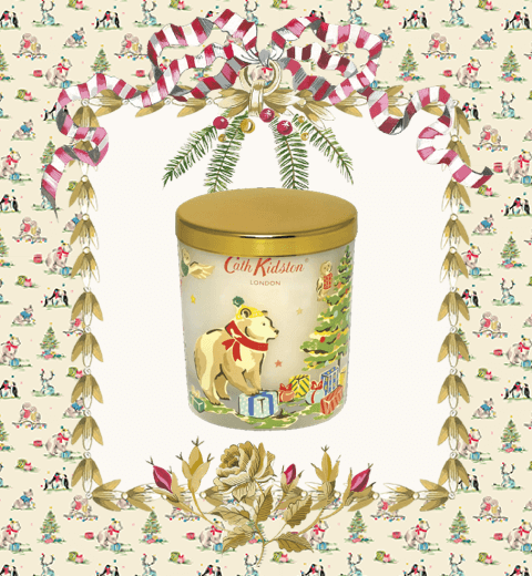 Festive Party Animals Christmas Wishes Scented Candle - Cath Kidston