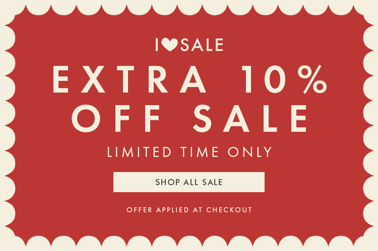 Extra 10% off sale. Limited time only. Offer applied at checkout. Click here to go to the sale.