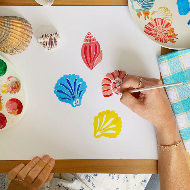 Get Arty with Cath: How to Paint Seaside Shells
