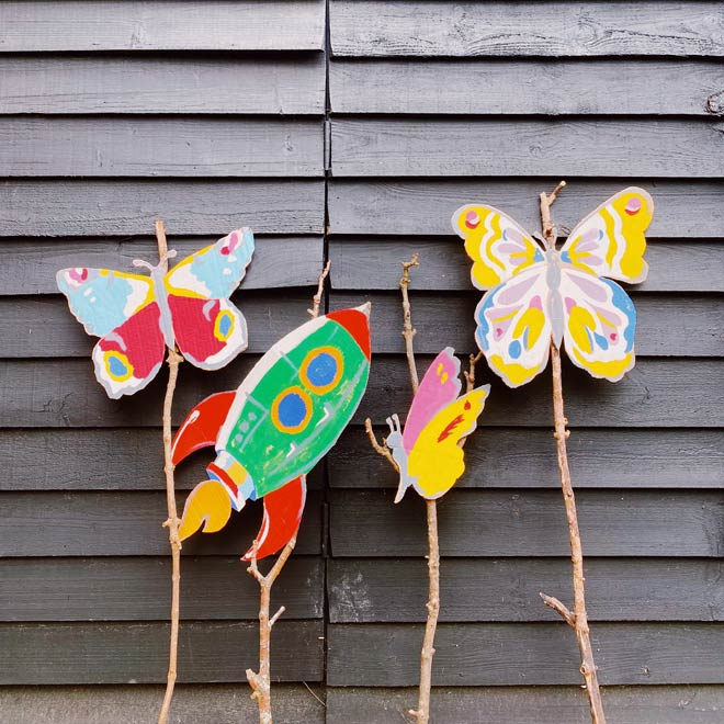 How to make a butterfly sign with cath Kidston