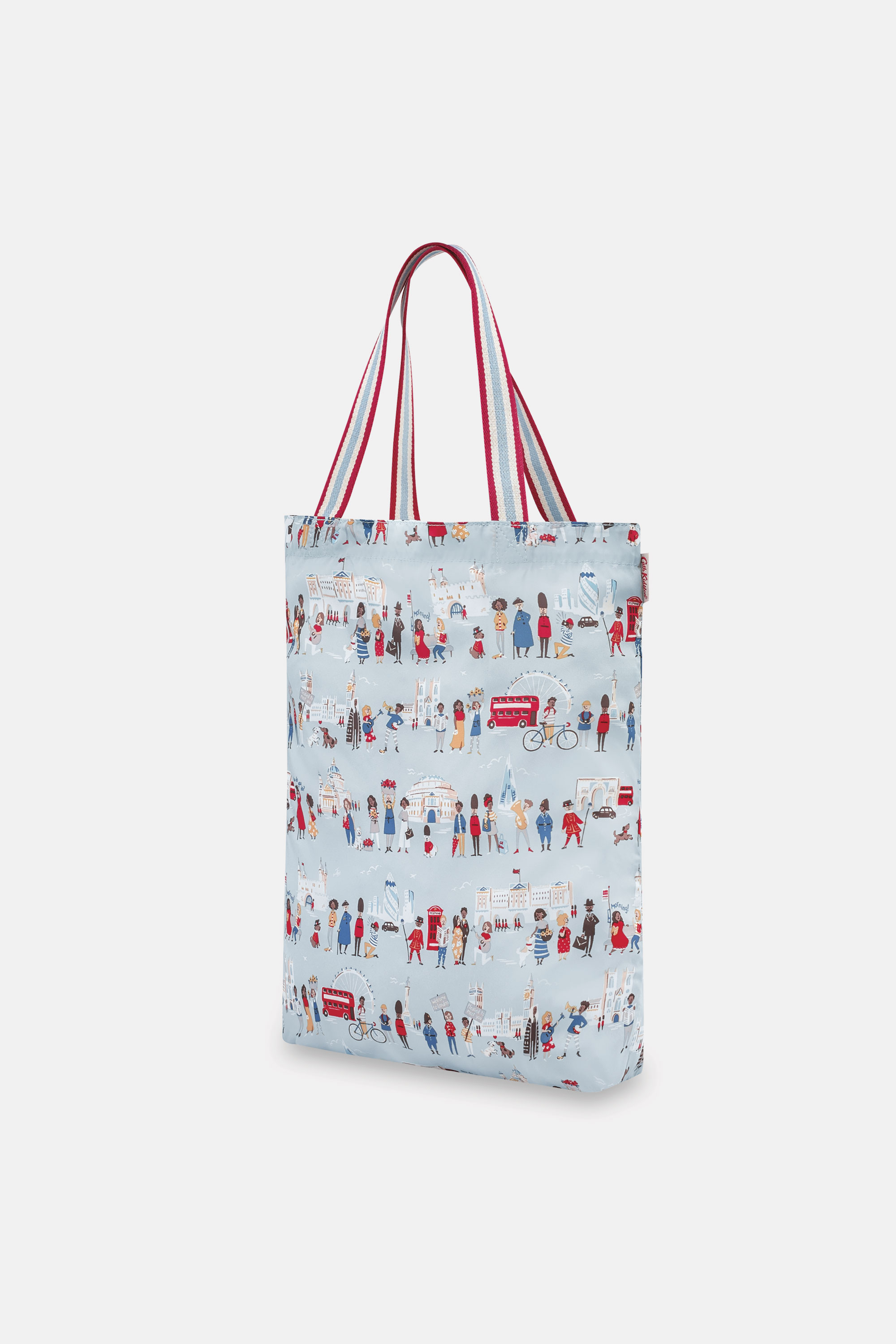 Cath Kidston London People Small Foldaway Tote in Powder Blue