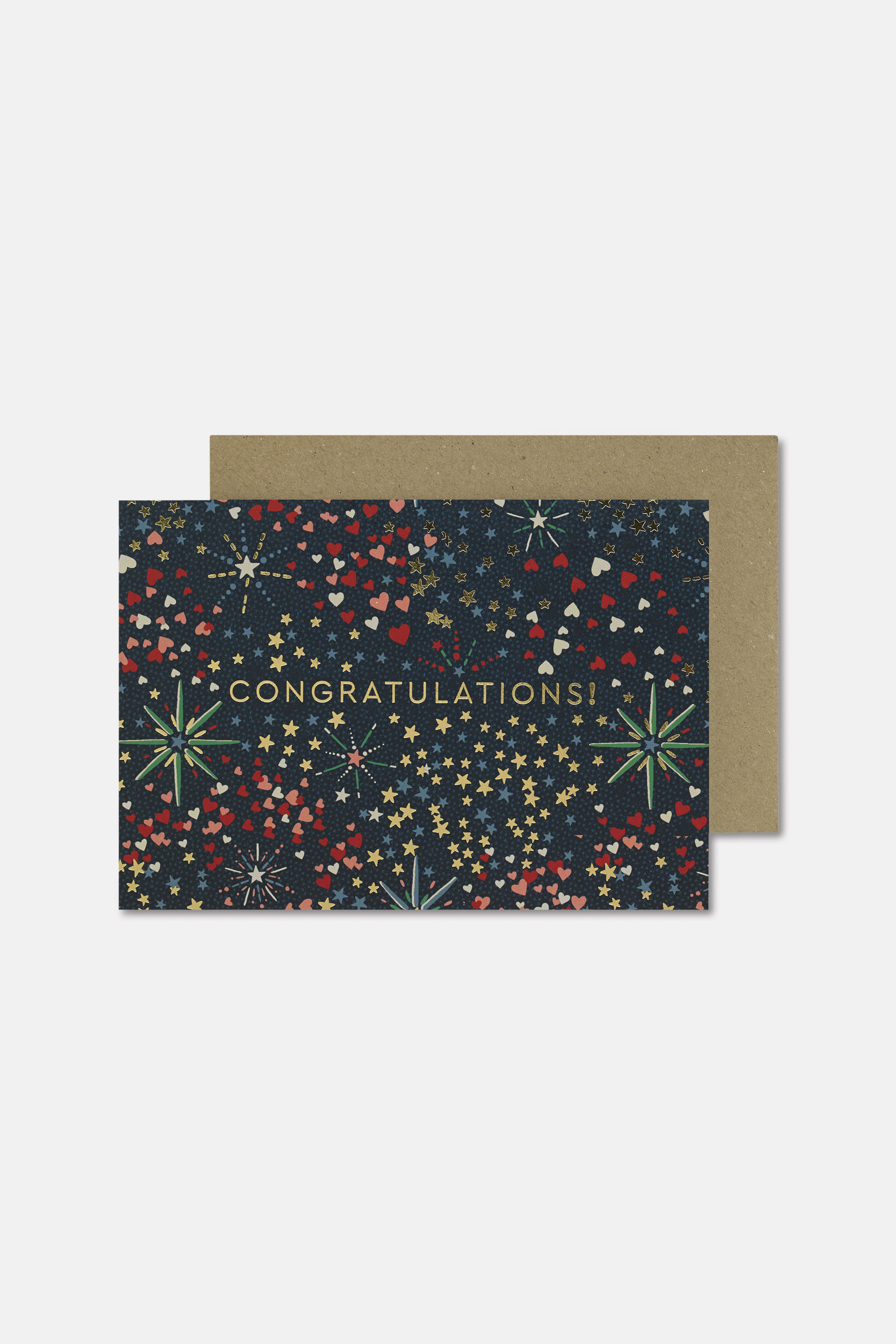 Cath Kidston Congratulations Card in Navy, Midnight Stars, Paper