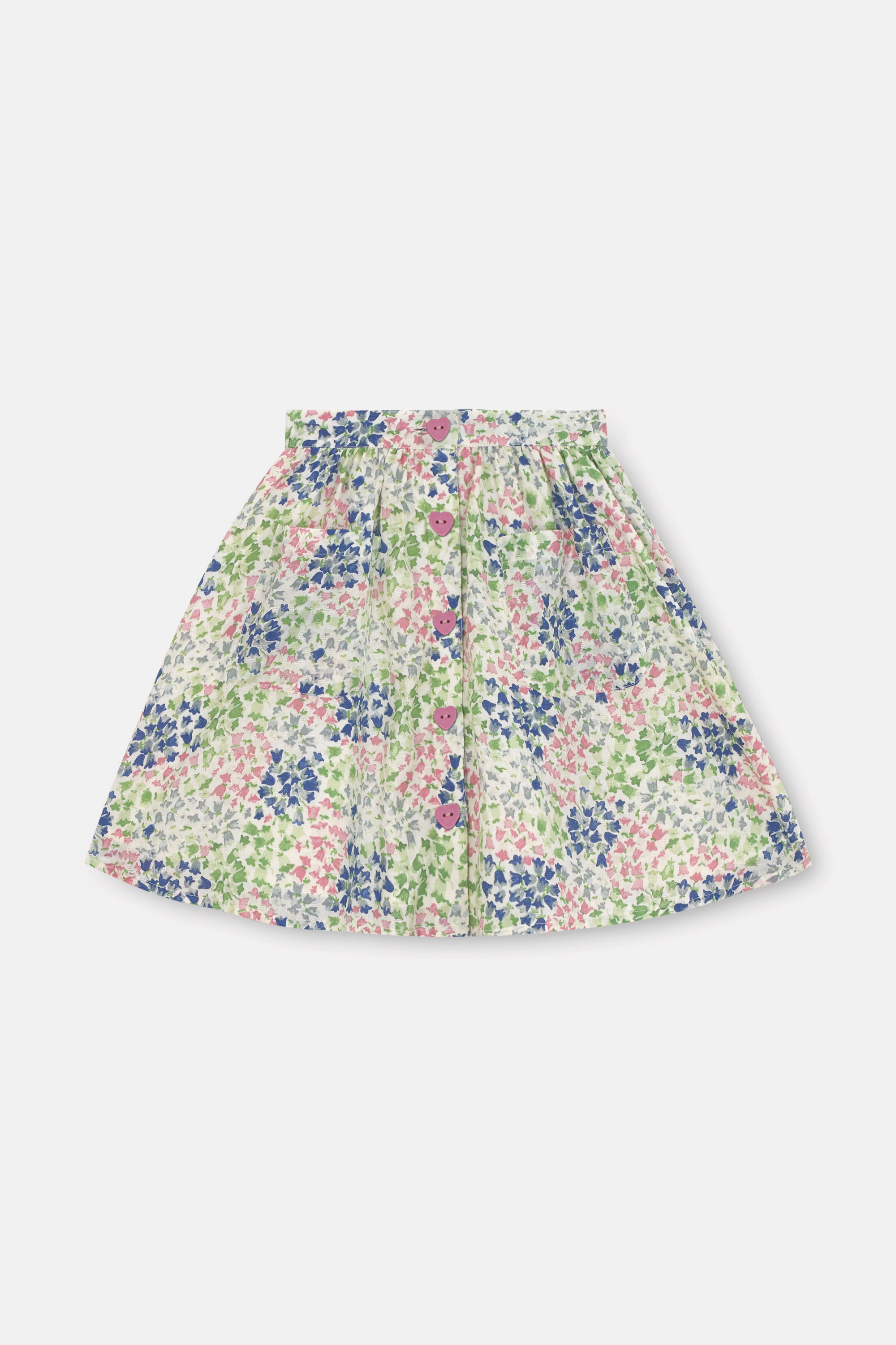 Cath Kidston Tiny Painted Bluebell Jessica Skirt in Warm Cream, 2-3 yr