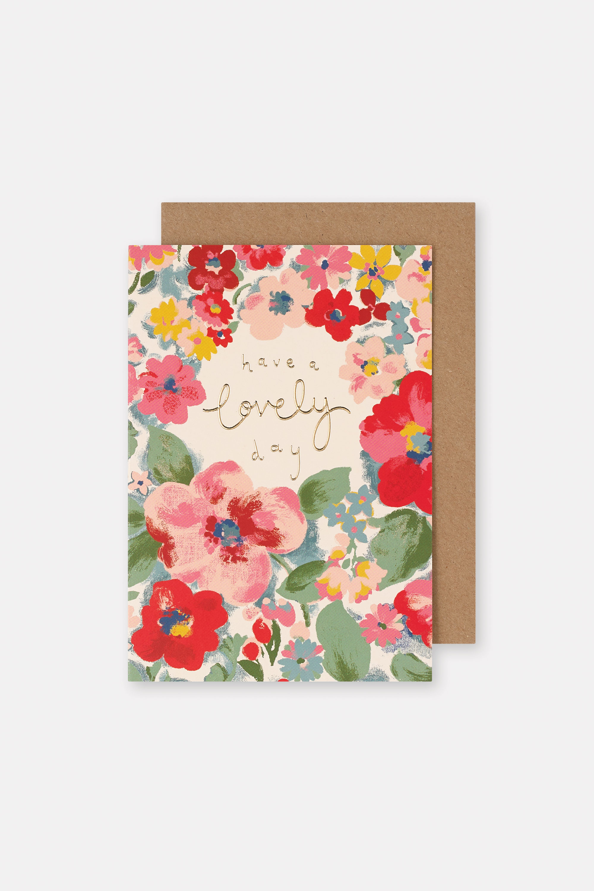 Cath Kidston Chiswick Rose Card in Warm Cream, 100% Paper
