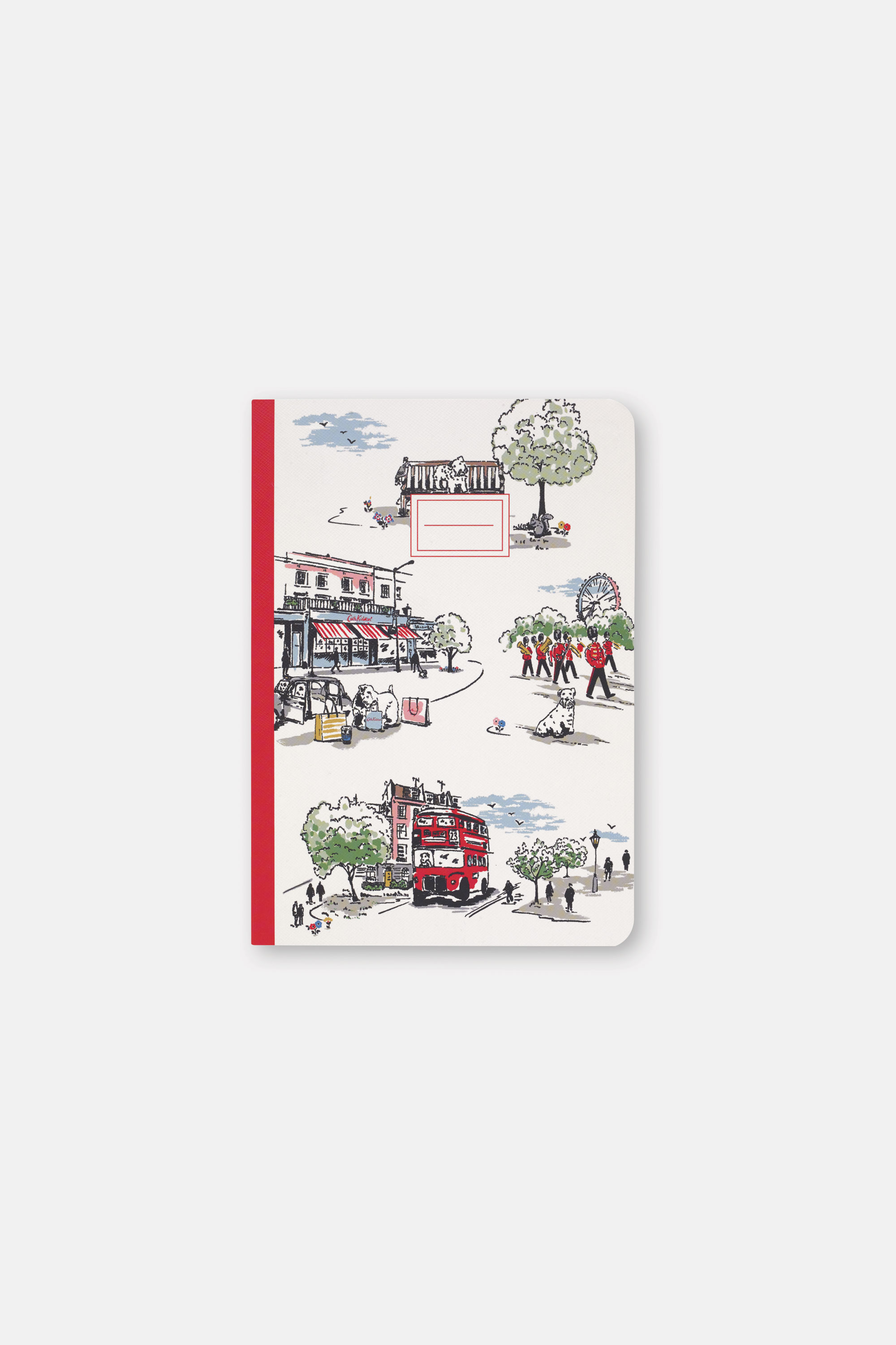 Cath Kidston Billie Goes to Town Print A5 Notebook in Ivory, 100% Paper