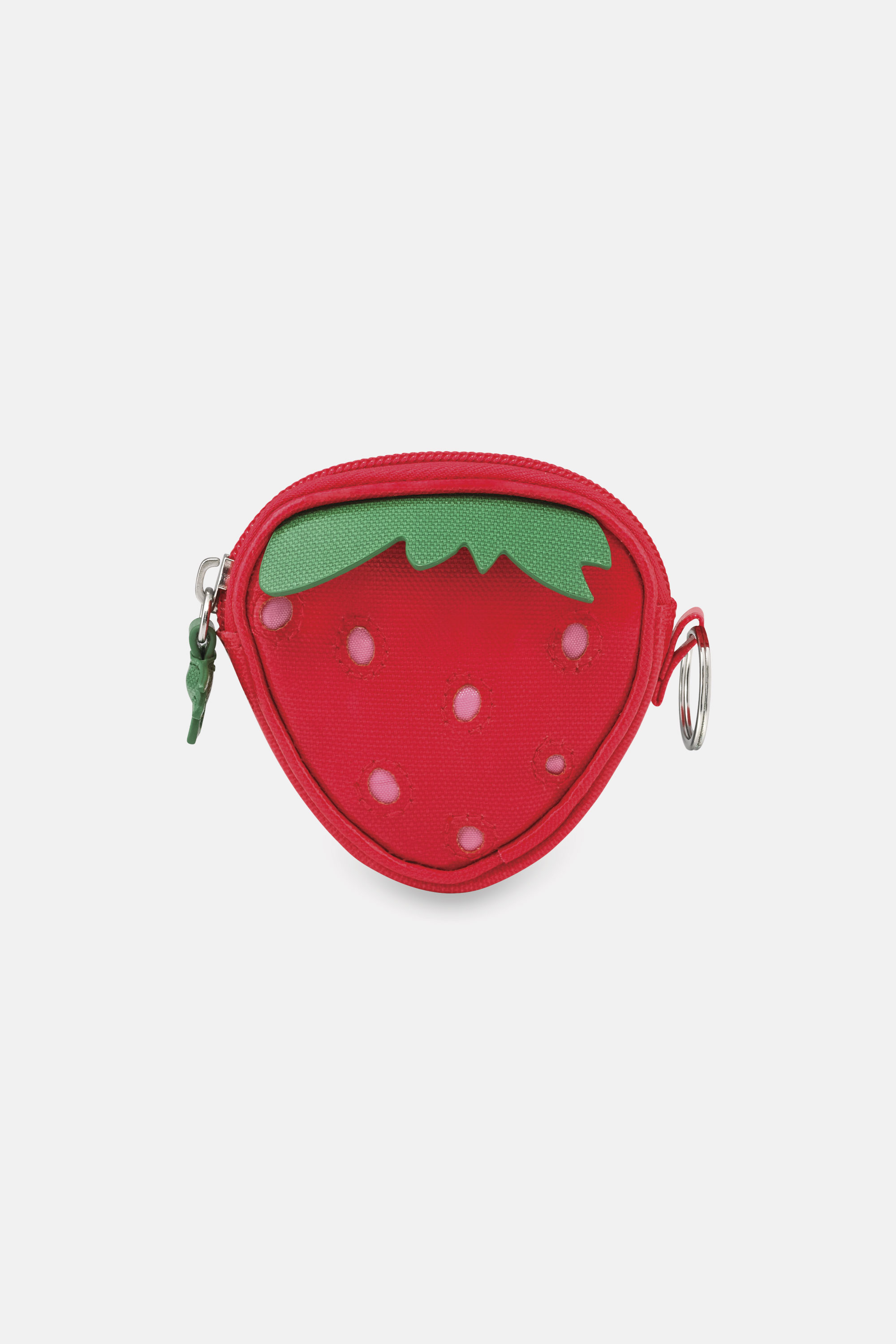 Cath Kidston Kids Purse in Rose Red, Solid, 100% Shiny Coated Cotton Canvas
