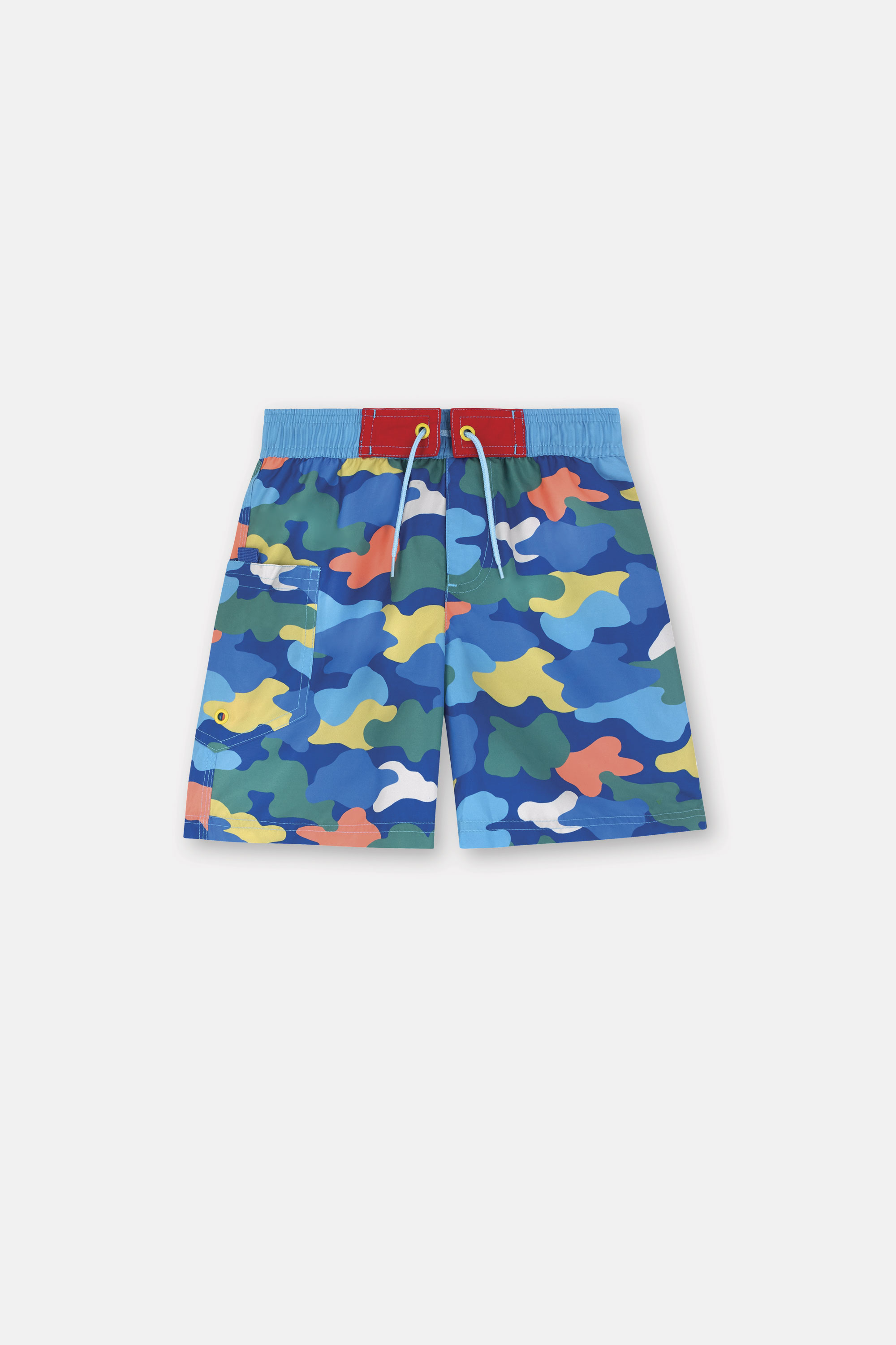 Cath Kidston Camouflage Kids Board Shorts in Marine, 100% Polyester Microfibre, 3-4 yr