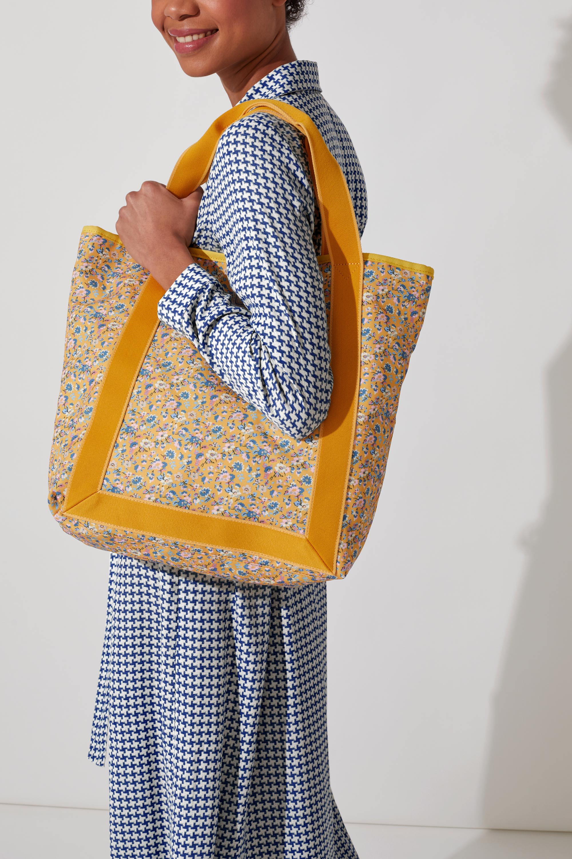 Cath Kidston Woodland Ditsy Recycled Webbing Tote in Deep Yellow
