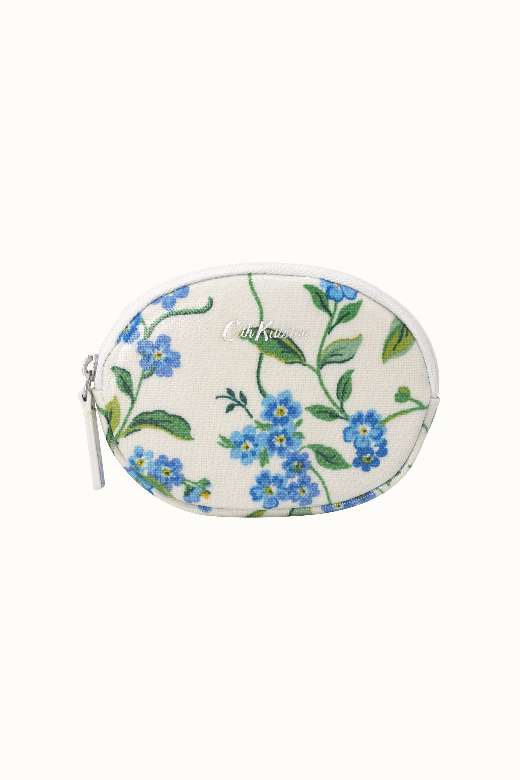 Cath Kidston Forget Me Not Oval Coin Purse in Cream