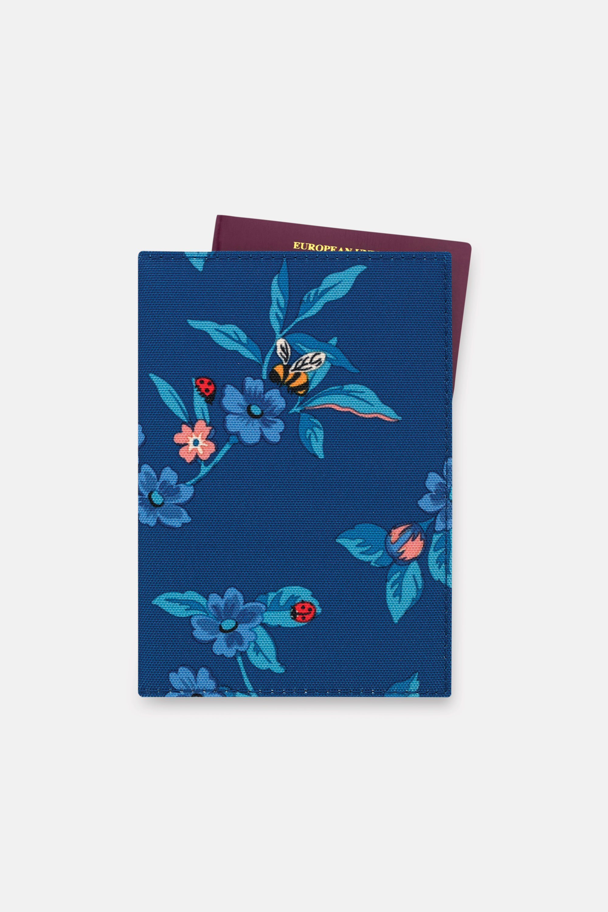 Cath Kidston Greenwich Flowers Recycled Passport Holder in