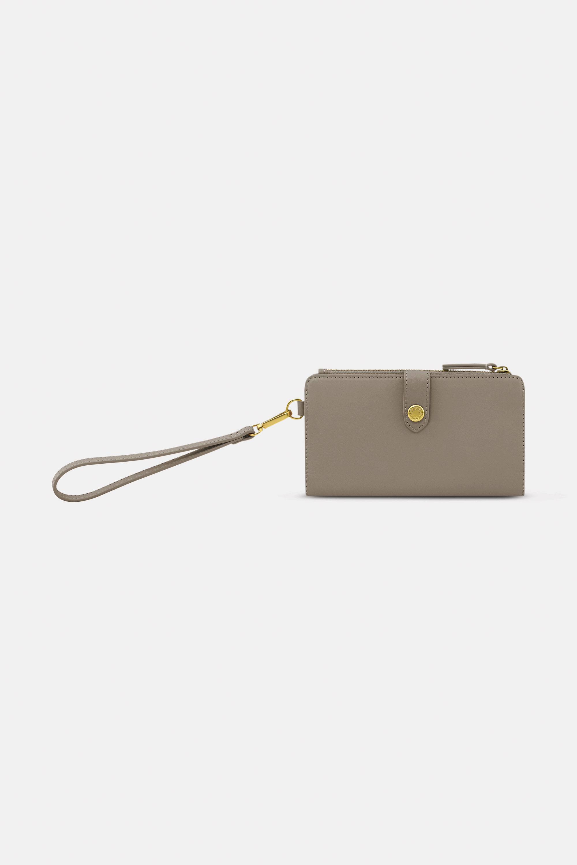 Cath Kidston Leather Phone Wallet in Taupe, Solid, 100% Leather