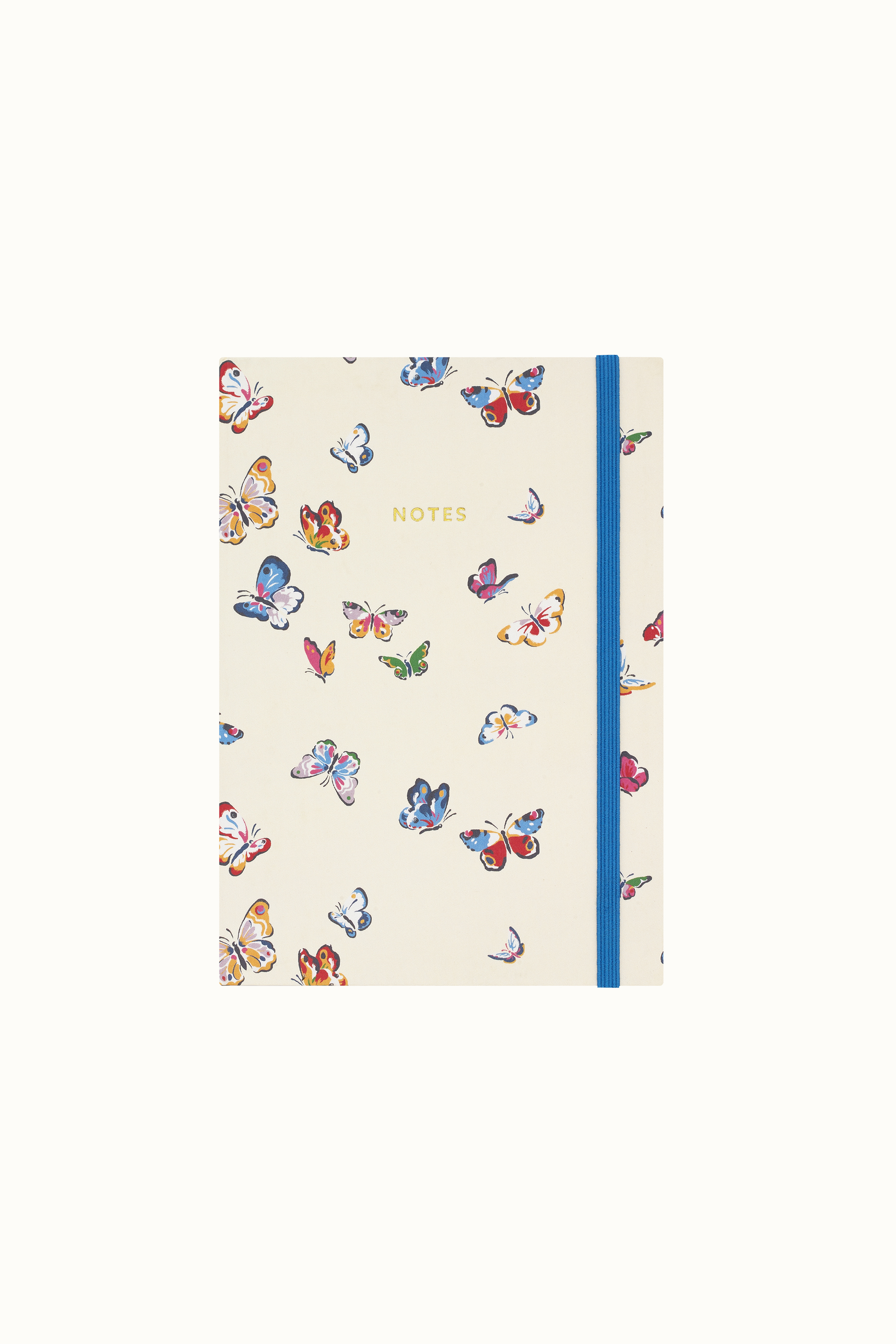 Cath Kidston Butterflies A5 Fabric Notebook in Cream