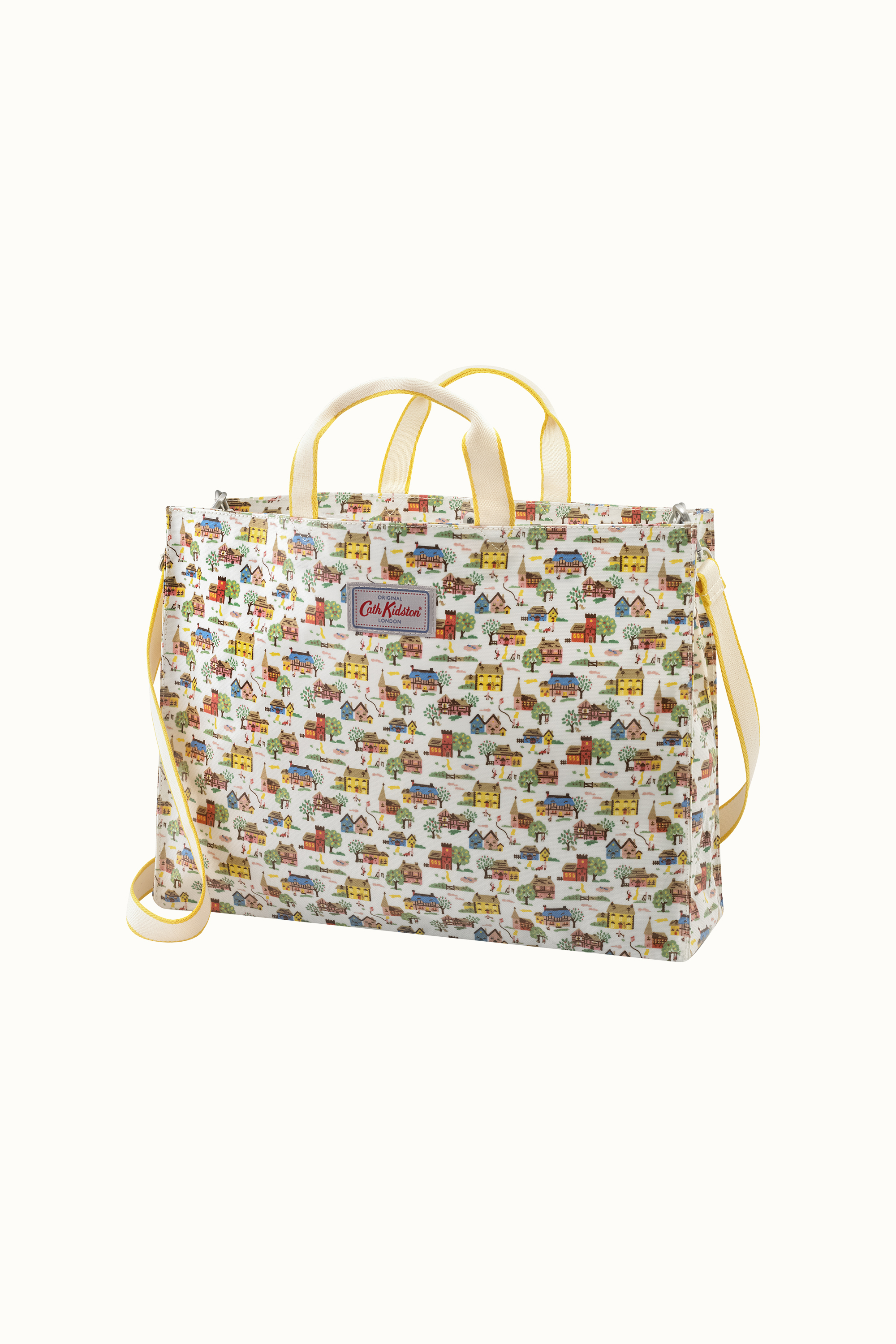Cath Kidston Home Sweet Home Strappy Carryall Bag in Cream