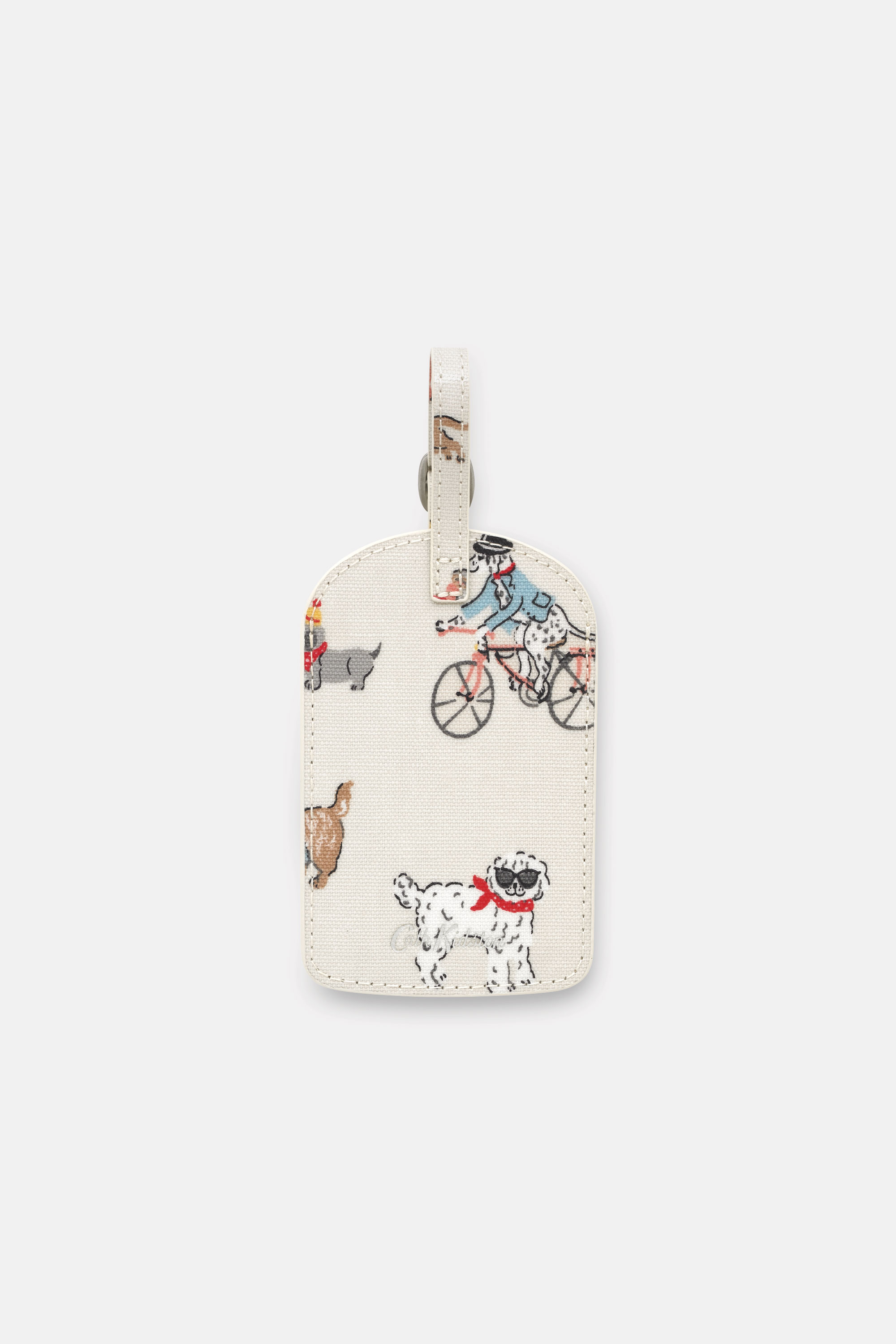 Cath Kidston Small Park Dogs Luggage Tag in Warm Cream