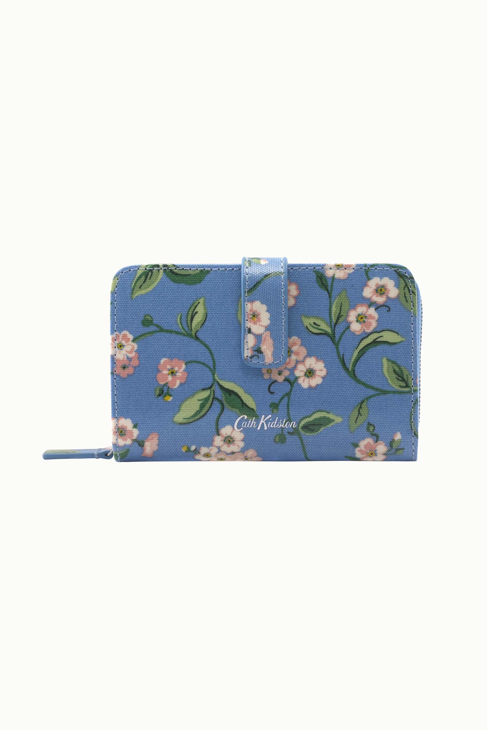 Cath Kidston Forget Me Not Folded Zip Wallet in Mid Blue