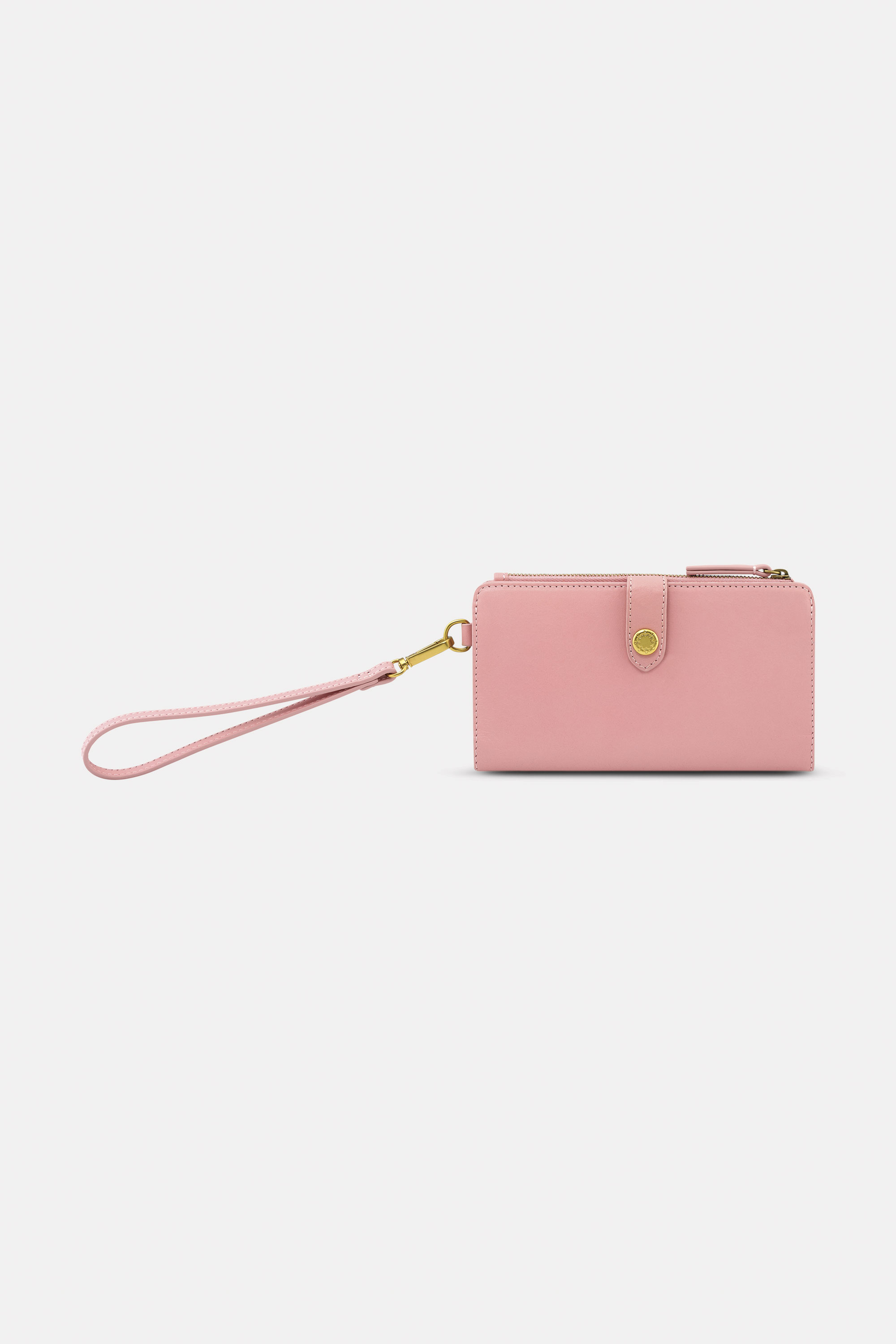 Cath Kidston Leather Phone Wallet in Pink, Solid