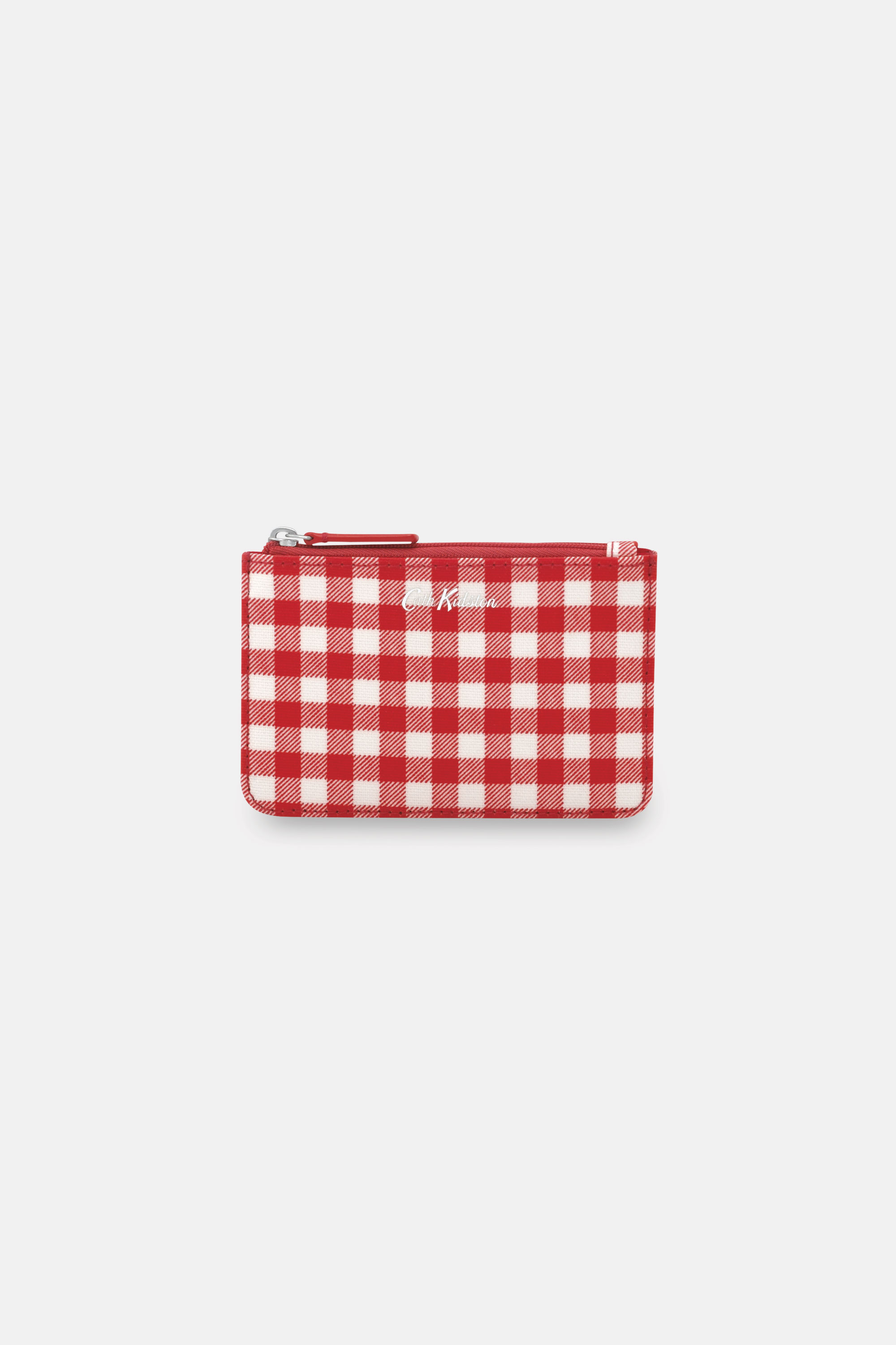 Cath Kidston Gingham Small Cash and Card Purse in Warm Cream