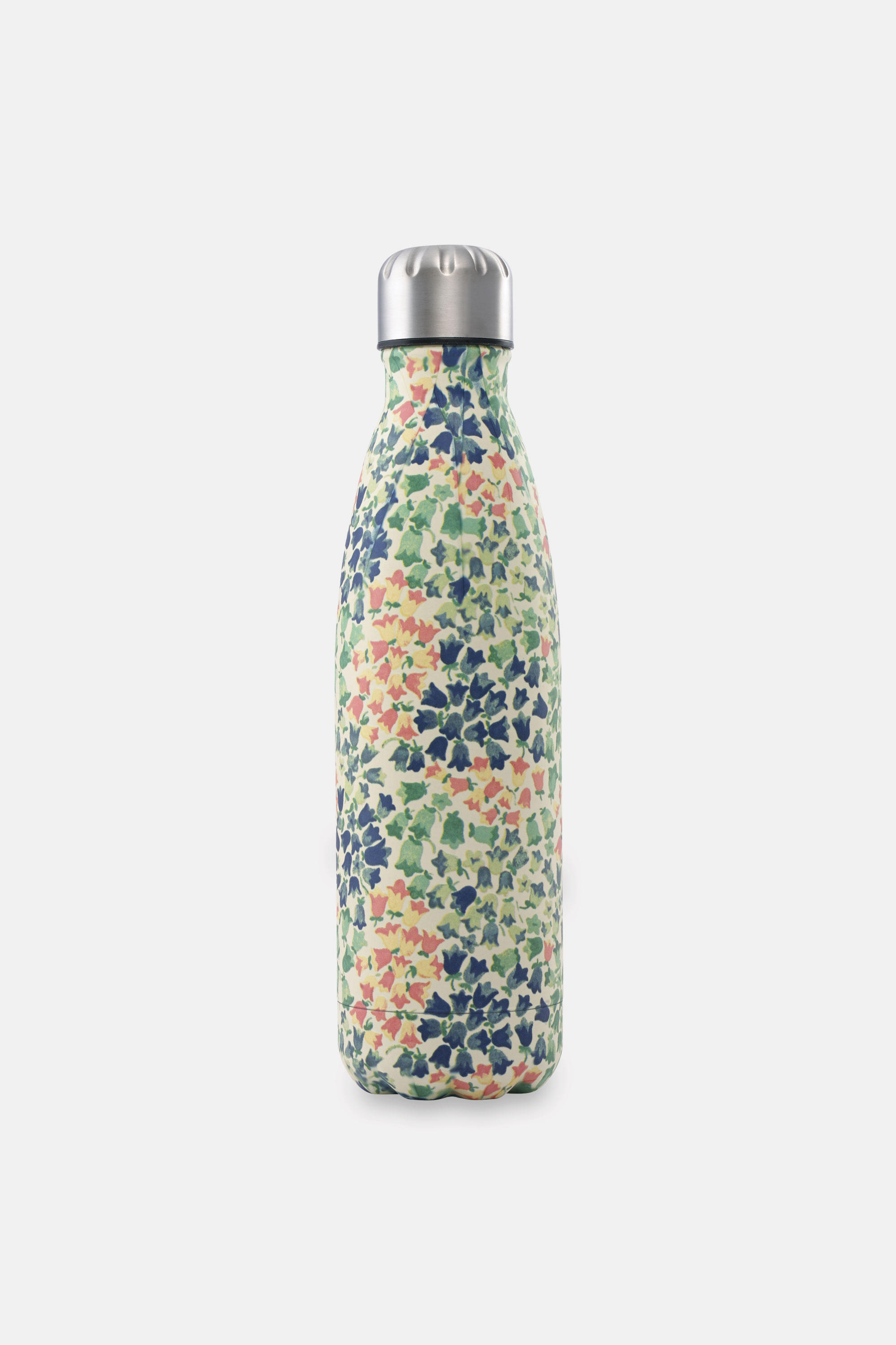 Cath Kidston Painted Bluebell Stainless Steel Water Bottle in Warm Cream