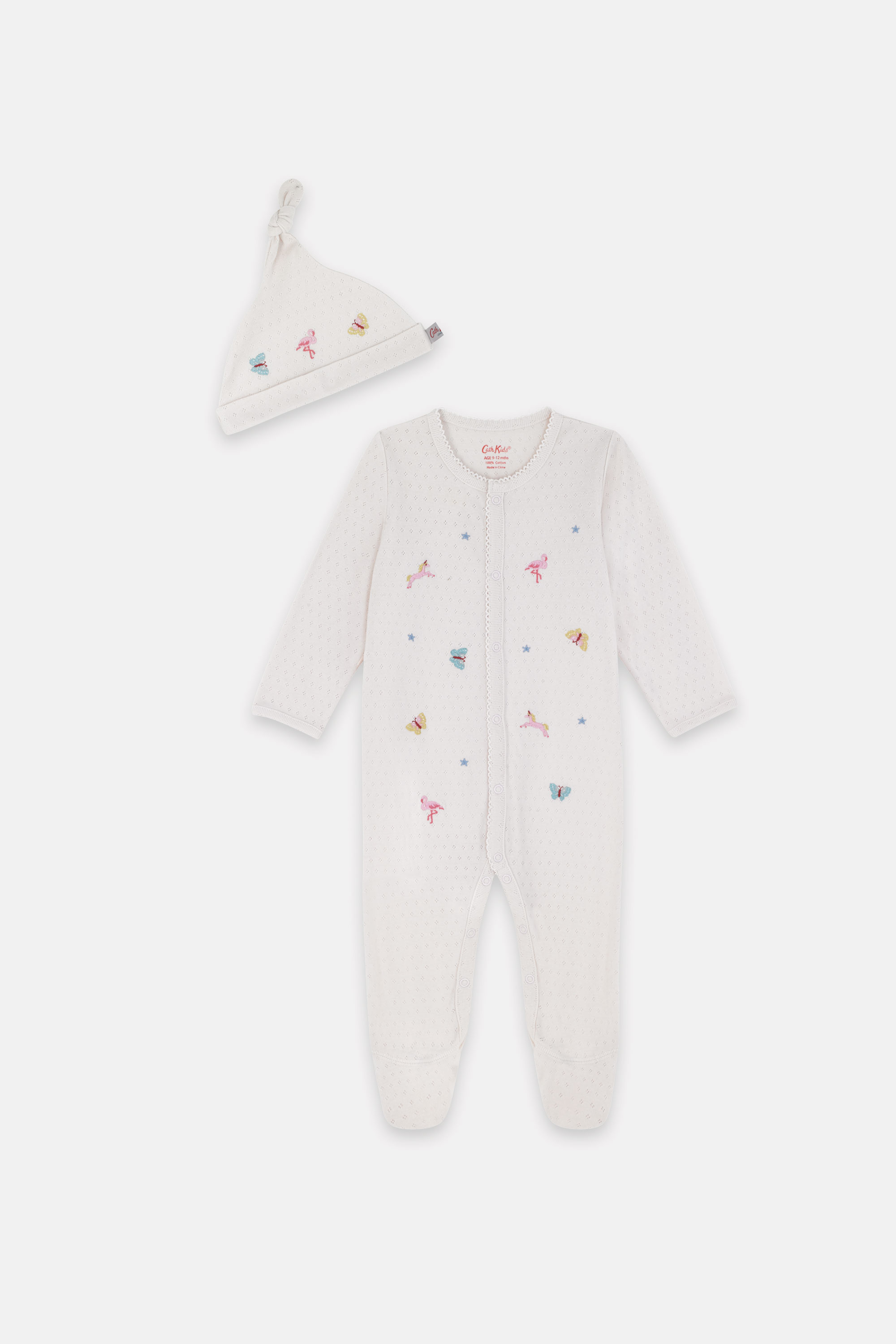 Cath Kidston Fantasy Forest Bodysuit and Hat Set in Blush, 9-12 Mo