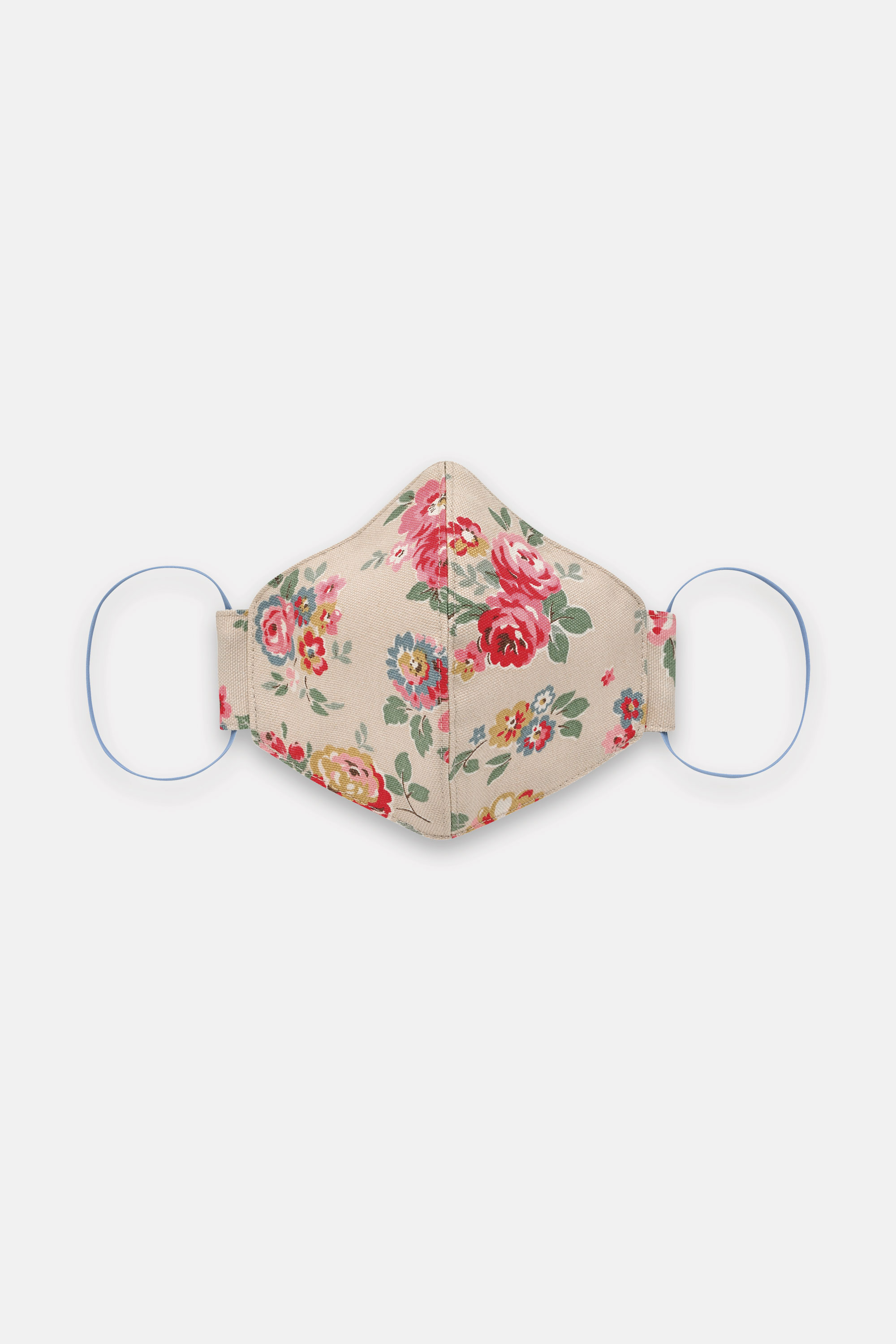 Cath Kidston Adult Face Covering in Stone, Wells Rose, 100% Cotton