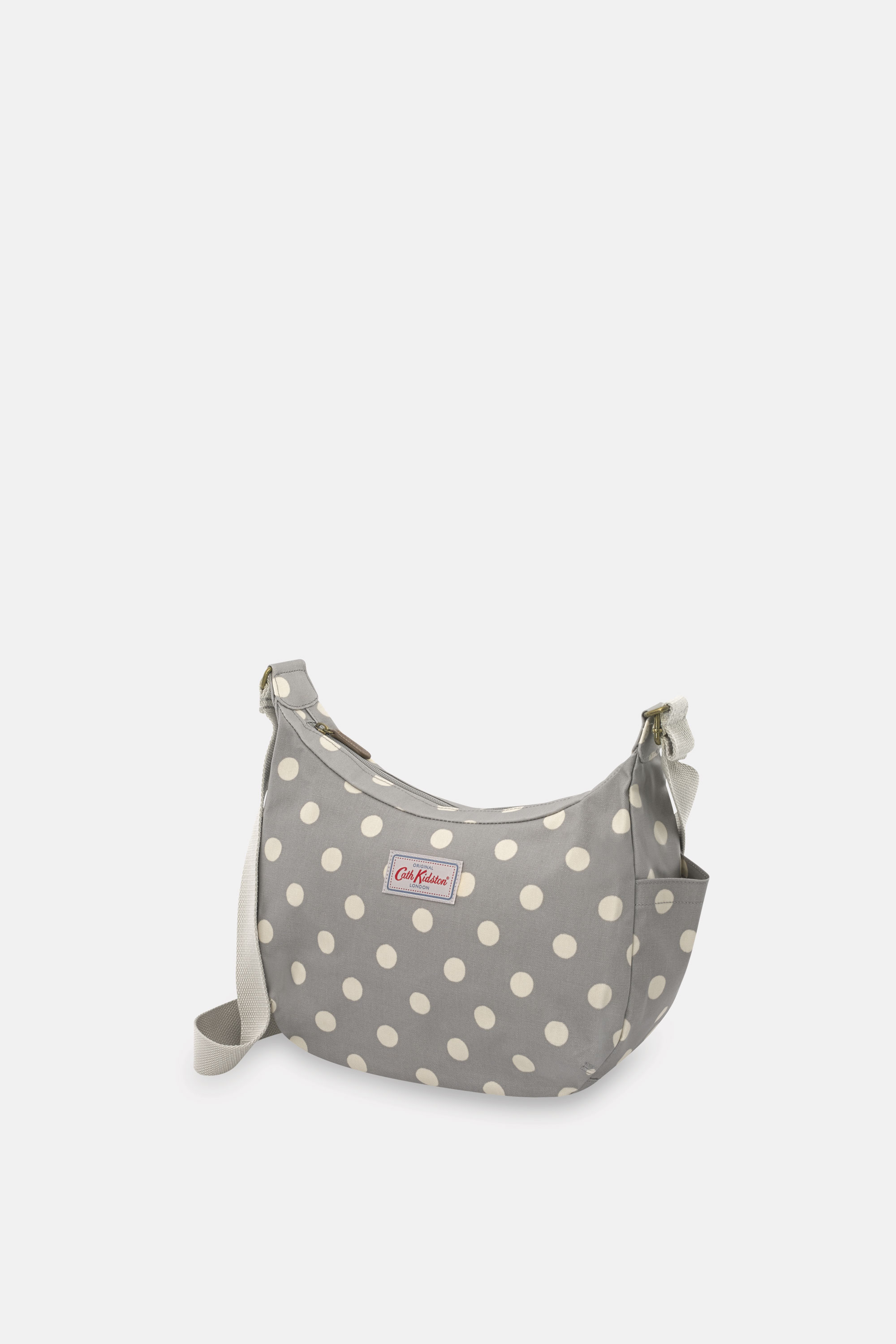 Cath Kidston Button Spot Everyday Bag in Grey, 100% Coated Cotton