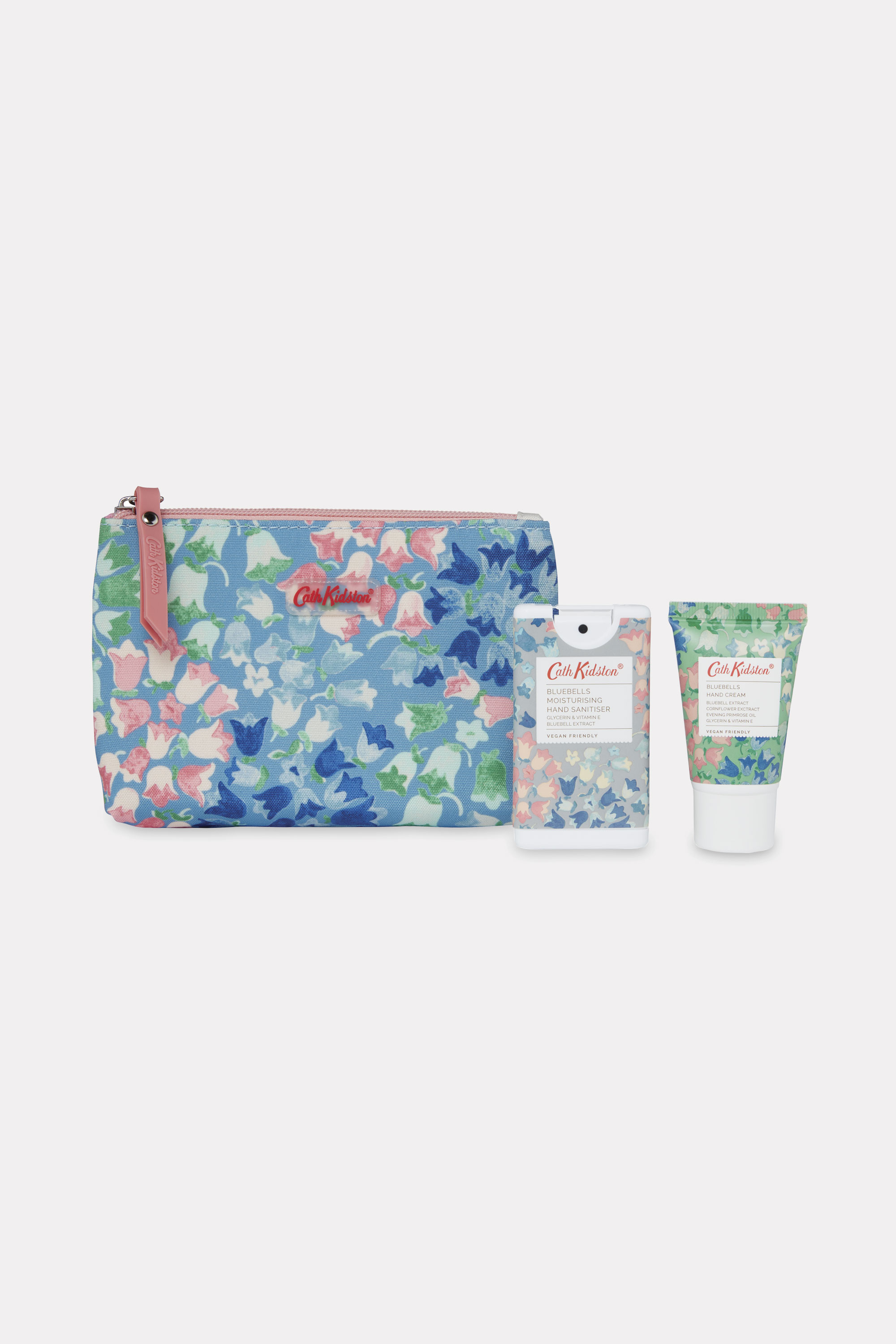 Cath Kidston Wild Barley and Meadow Scented Hand Sanitiser and Cream Gift Set in Warm Cream