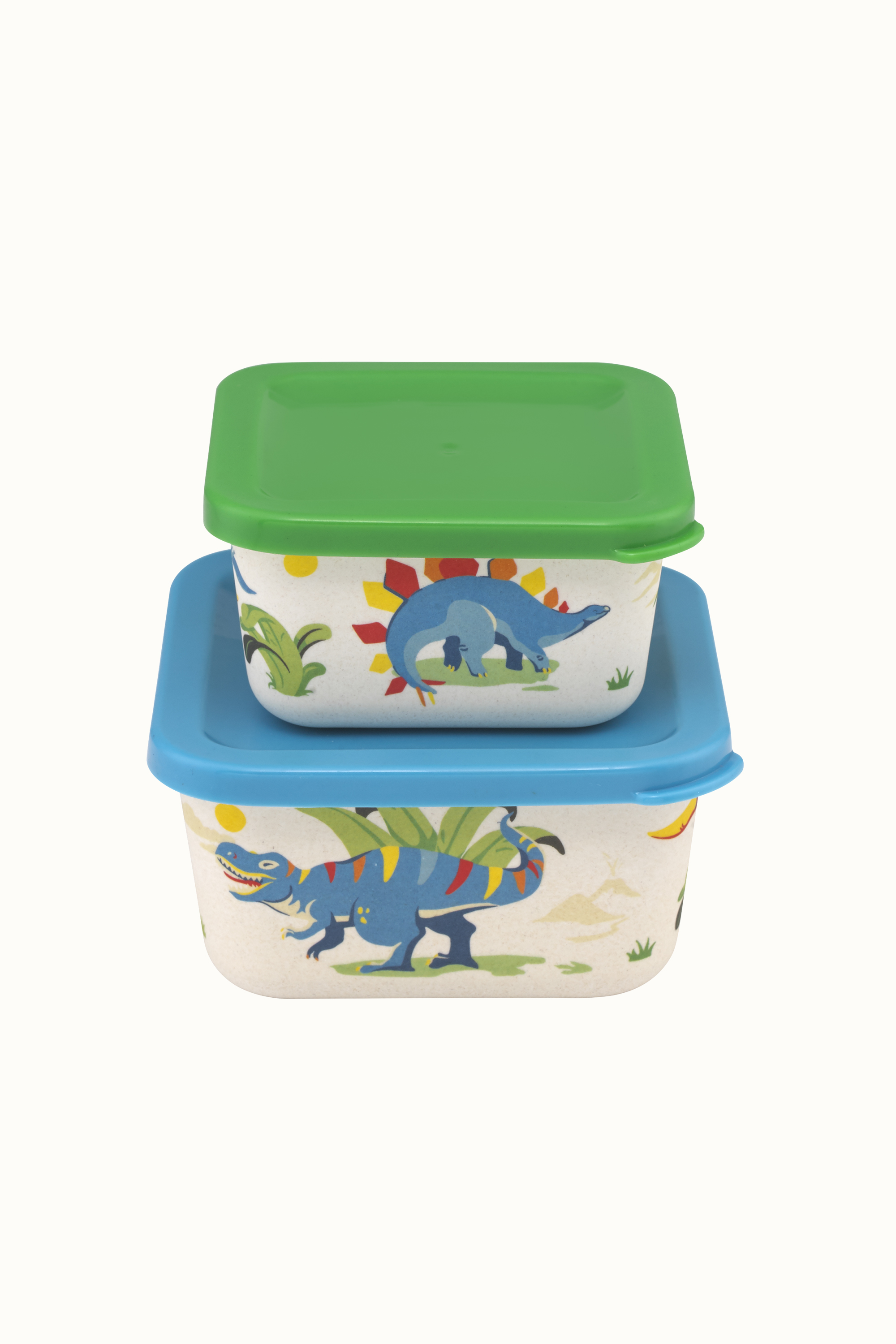 Cath Kidston Dinosaur Jungle Snack Boxes in Pale Green