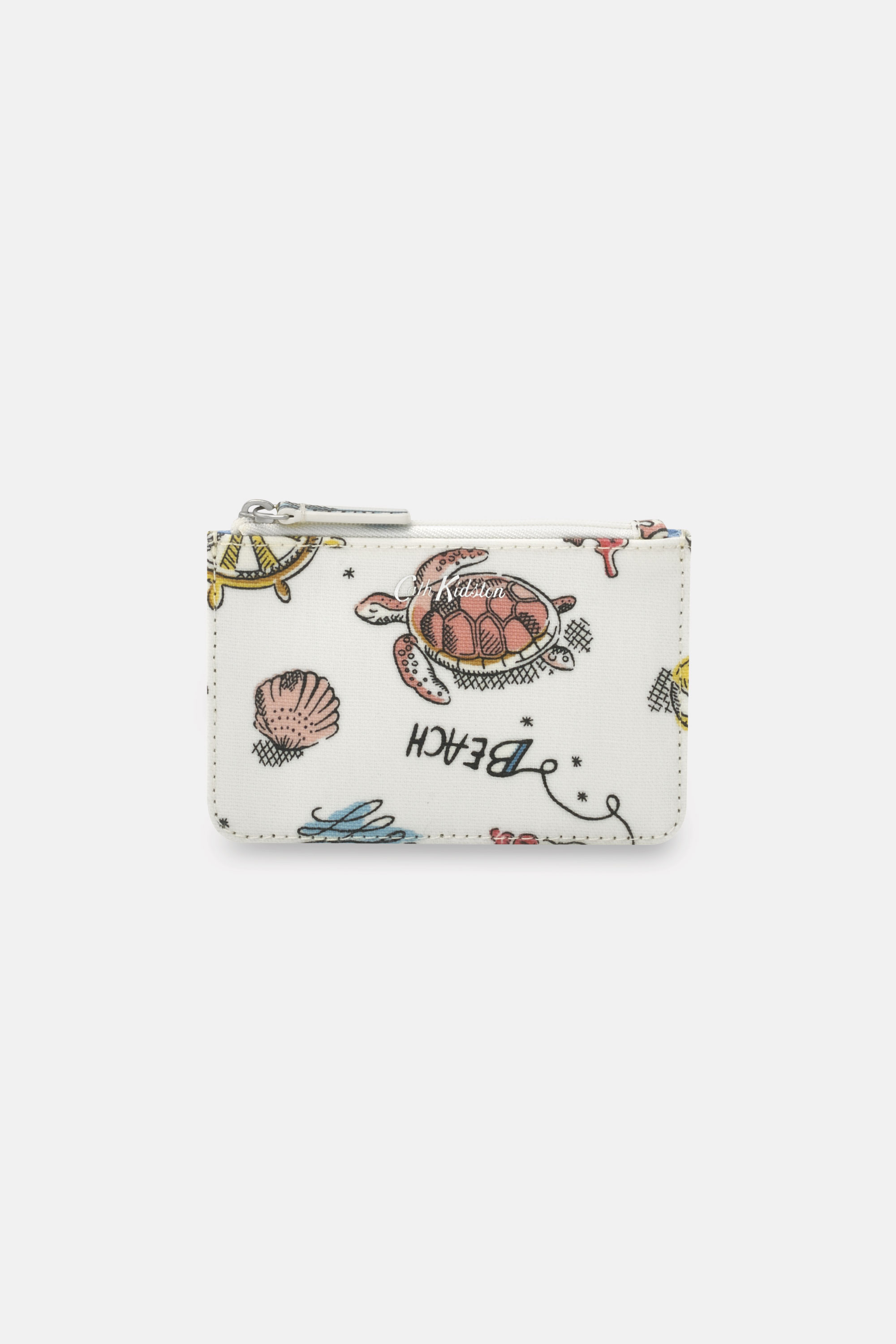Cath Kidston Summer Time Small Card and Coin Purse in Warm Cream