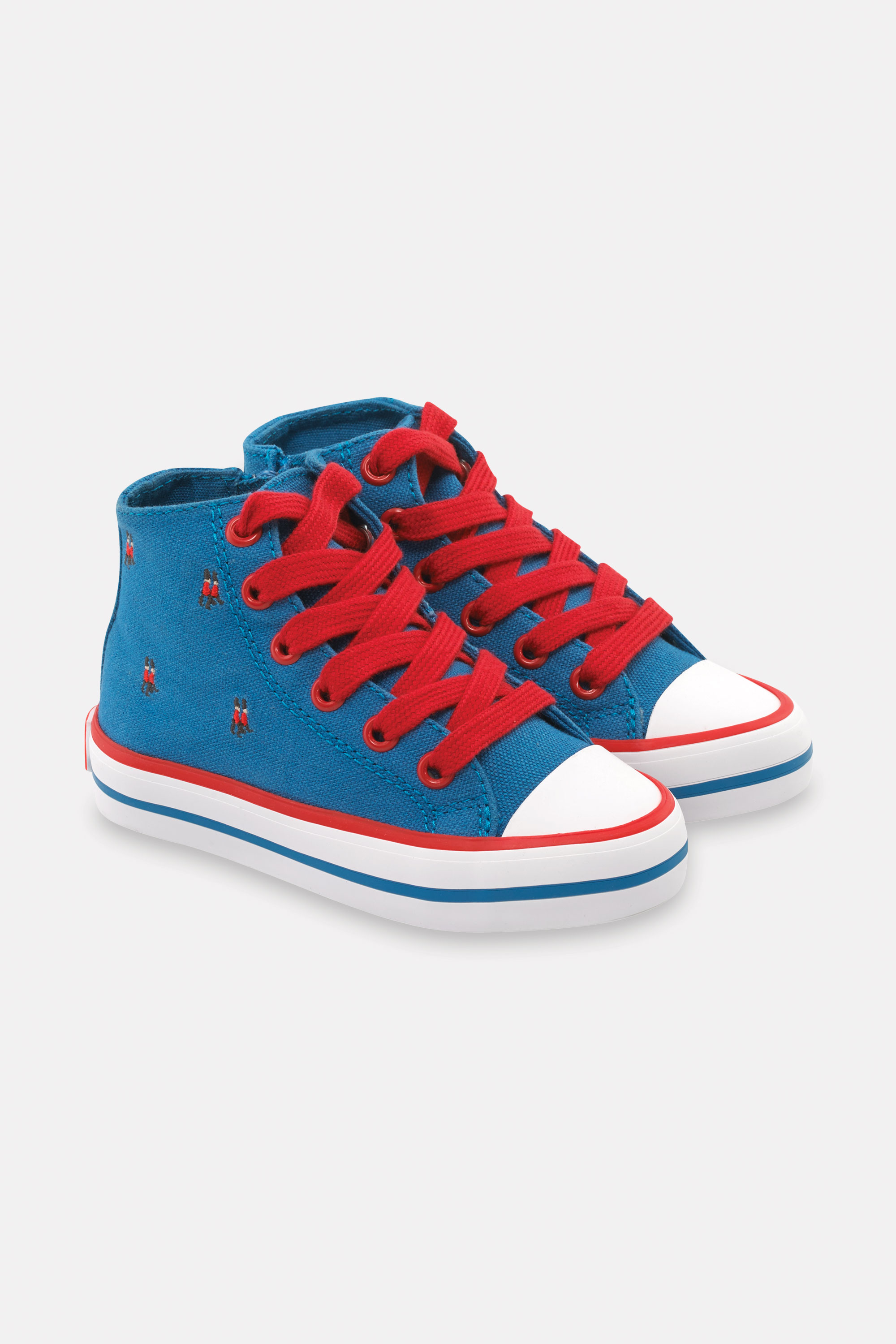 Cath Kidston Kids High Top Trainer Shoes in London Blue, UK 12