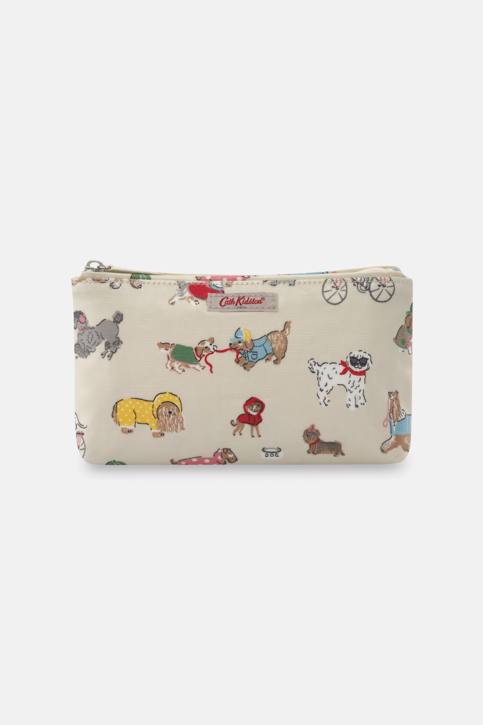 Cath Kidston Small Park Dogs Make Up Bag in Warm Cream