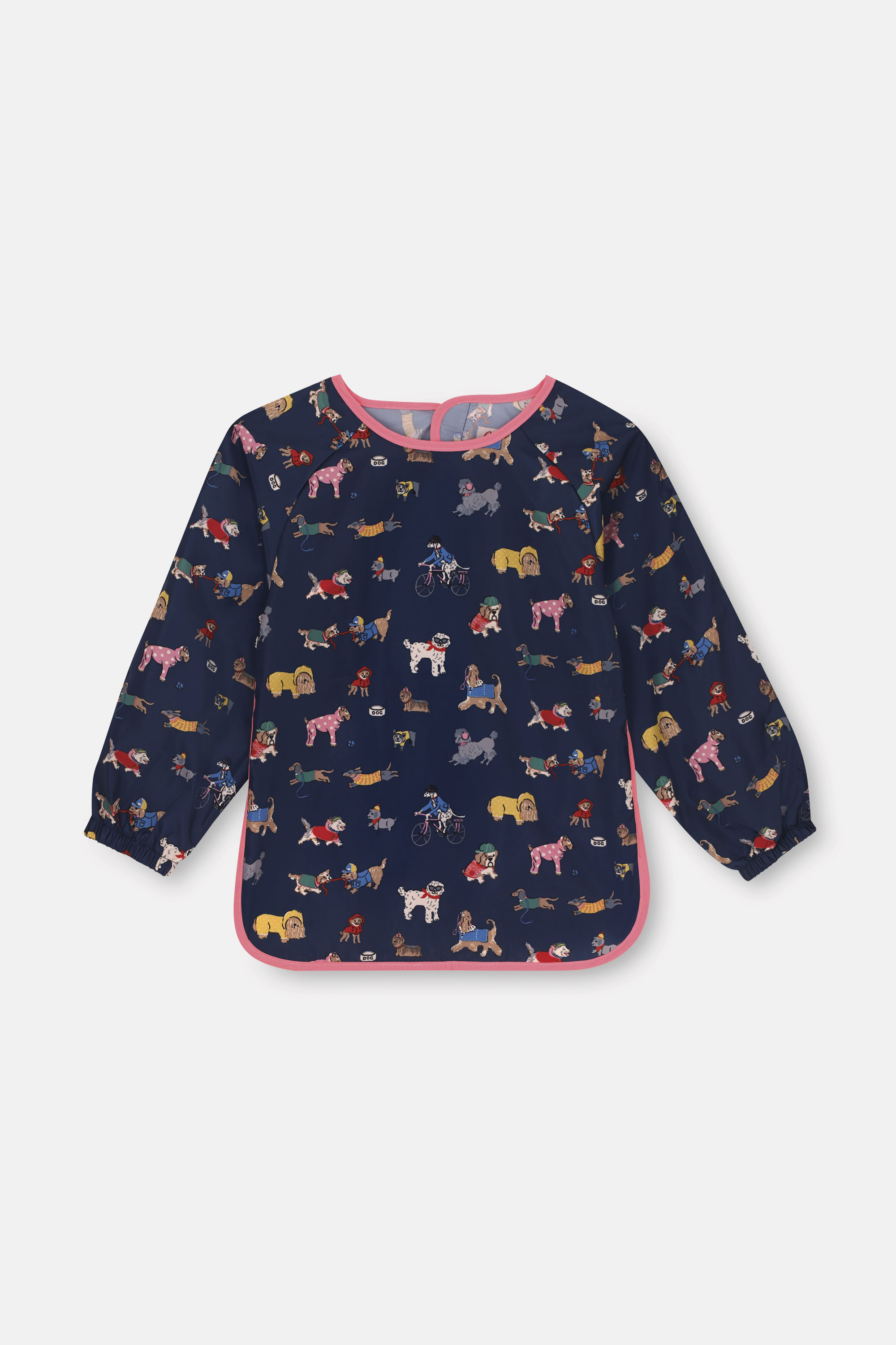 Cath Kidston Park Dogs Kids Long Sleeve Apron in Navy, 4-6 yr