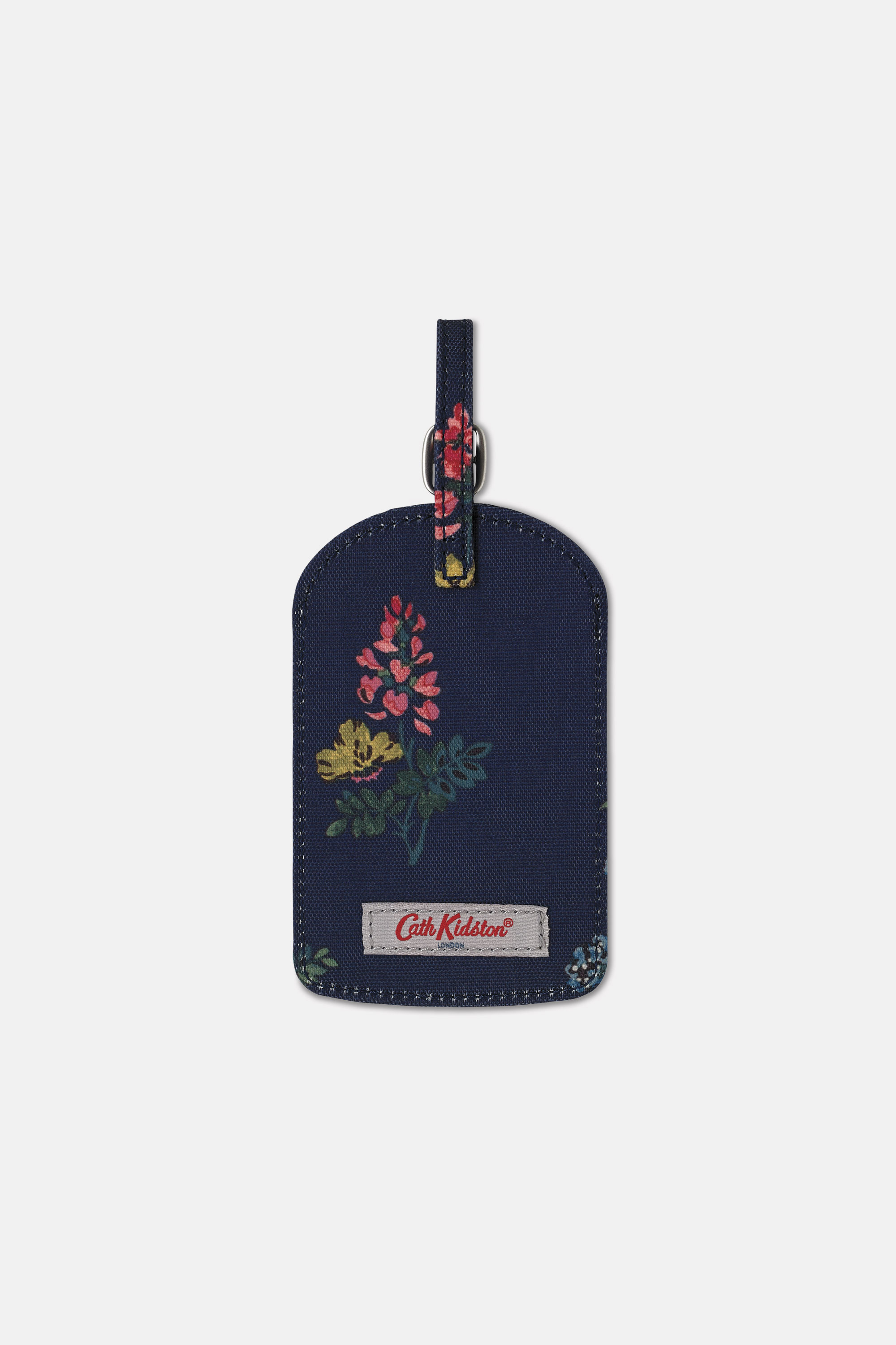 Cath Kidston Twilight Sprig Luggage Tag in Navy, 100% Polyester